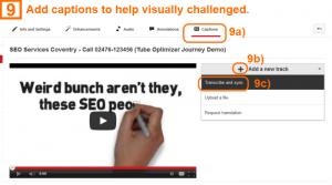 Video optimization step 9 - captions