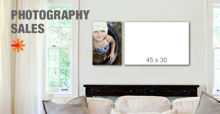 Wall art with photo display