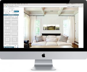 Wall display of photos on a computer