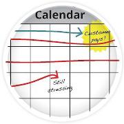 Calendar for recording finances