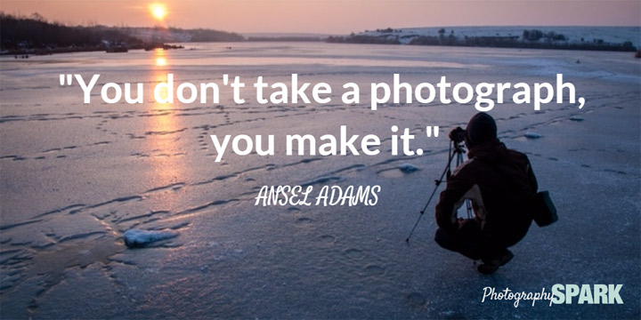 You don't take a photograph, you make it. So true! Click this Pin for many more photo quotes.
